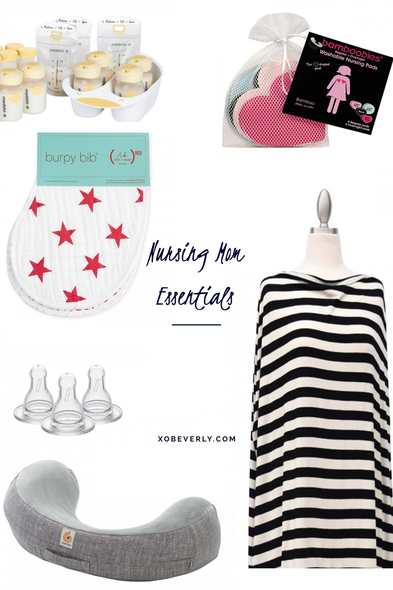 Nursing essentials for the minimalist new moms by popular Ohio lifestyle blogger XO Beverly